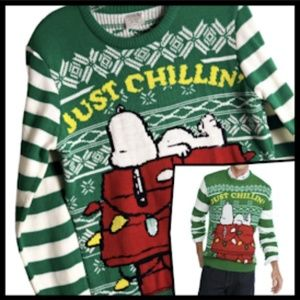 Peanuts Unisex Snoopy Ugly Christmas Sweater S